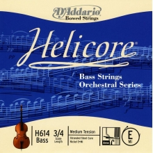 KONTRABAS TEK TEL, HELICORE, E-Mİ, SCALE 3/4, DOUBLE BASS ORCHESTRAL SERIES, MEDIUM TENSION, STRANDED STEEL CORE (BÜKÜMLÜ ÇELİK ÇEKİRDEK) / NICKEL