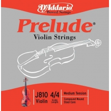 KEMAN TEL SETİ, PRELUDE, 10 SETLİK PAKET, SCALE 4/4, MEDIUM TENSION, SOLID STEEL CORE