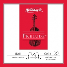 CELLO TEK TEL, PRELUDE, A-LA, 3/4 SCALE, MEDIUM TENSION, SOLID STEEL CORE (MASİF ÇELİK ÇEKİRDEK)/NICKEL