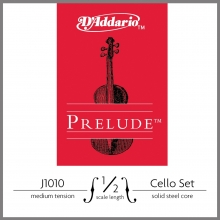 CELLO TEL SETİ, PRELUDE, 1/2 SCALE, MEDIUM TENSION, SOLID STEEL CORE (MASİF ÇELİK ÇEKİRDEK), CLEAR TONE
