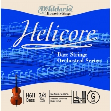 KONTRABAS TEK TEL, HELICORE, G-SOL, SCALE 3/4, DOUBLE BASS ORCHESTRAL SERIES, MEDIUM TENSION, STRANDED STEEL CORE (BÜKÜMLÜ ÇELİK ÇEKİRDEK) / NICKEL