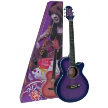 AKUSTİK GİTAR GYPSY ROSE SET (GIGBAG, STRAP, STICKERS, DVD), MOR