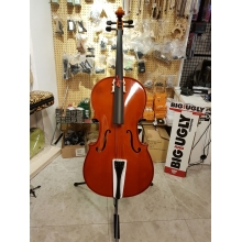CELLO +KILIF+YAY 4/4, MASİF LADİN ÖN KAPAK, MASİF MAPLE ARKA VE YANLAR, PURE (SAF) SES