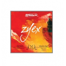 KEMAN TEL SET, ZYEX, 4/4 , MEDIUM TENSION, (RE GÜMÜŞ)
