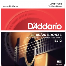 AKUSTİK GİTAR TEL SETİ, 80/20 BRONZE, MEDIUM GAUGE, 13-56, DEEP, BRIGHT & PROJECTING TONE