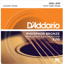 AKUSTİK GİTAR TEL SETİ, PHOSPHOR-BRONZE, EXTRA LIGHT GAUGE, 10-47, WARM, BRIGHT & BALANCED TONE