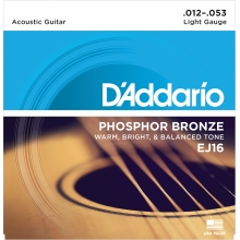 AKUSTİK GİTAR TEL SETİ, PHOSPHOR-BRONZE, LIGHT GAUGE, 12-53, WARM, BRIGHT & BALANCED TONE