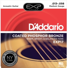 AKUSTİK GİTAR TEL SETİ, 13-56, COATED PHOSPHOR BRONZE, MEDIUM GAUGE, WARM, BRIGHT & BALANCED TONE