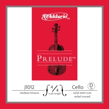 CELLO TEK TEL, PRELUDE, D-RE, 4/4 SCALE, MEDIUM TENSION, SOLID STEEL CORE (MASİF ÇELİK ÇEKİRDEK)/ NICKEL