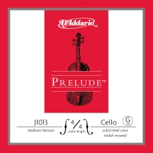 CELLO TEK TEL, PRELUDE, G-SOL, 4/4 SCALE, MEDIUM TENSION, SOLID STEEL CORE (MASİF ÇELİK ÇEKİRDEK)/ NICKEL