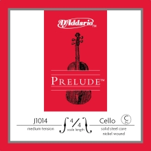 CELLO TEK TEL, PRELUDE, C-DO, 4/4 SCALE, MEDIUM TENSION, SOLID STEEL CORE (MASİF ÇELİK ÇEKİRDEK)/ NICKEL
