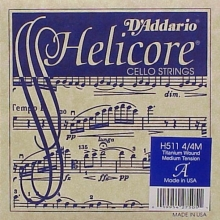 CELLO TEK TEL, HELICORE, A-LA, LONG SCALE, MEDIUM