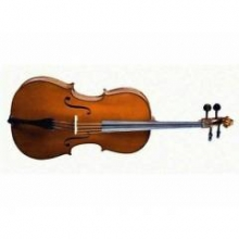 CELLO 3/4 SCALE +KILIF+YAY, KARARTILMIŞ AKÇAAĞAÇ BU